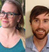 2017 University of Tasmania Prize shortlisted writers Ben Walter, Kerri Guardia, Ruauri Murphy and Adam Ouston