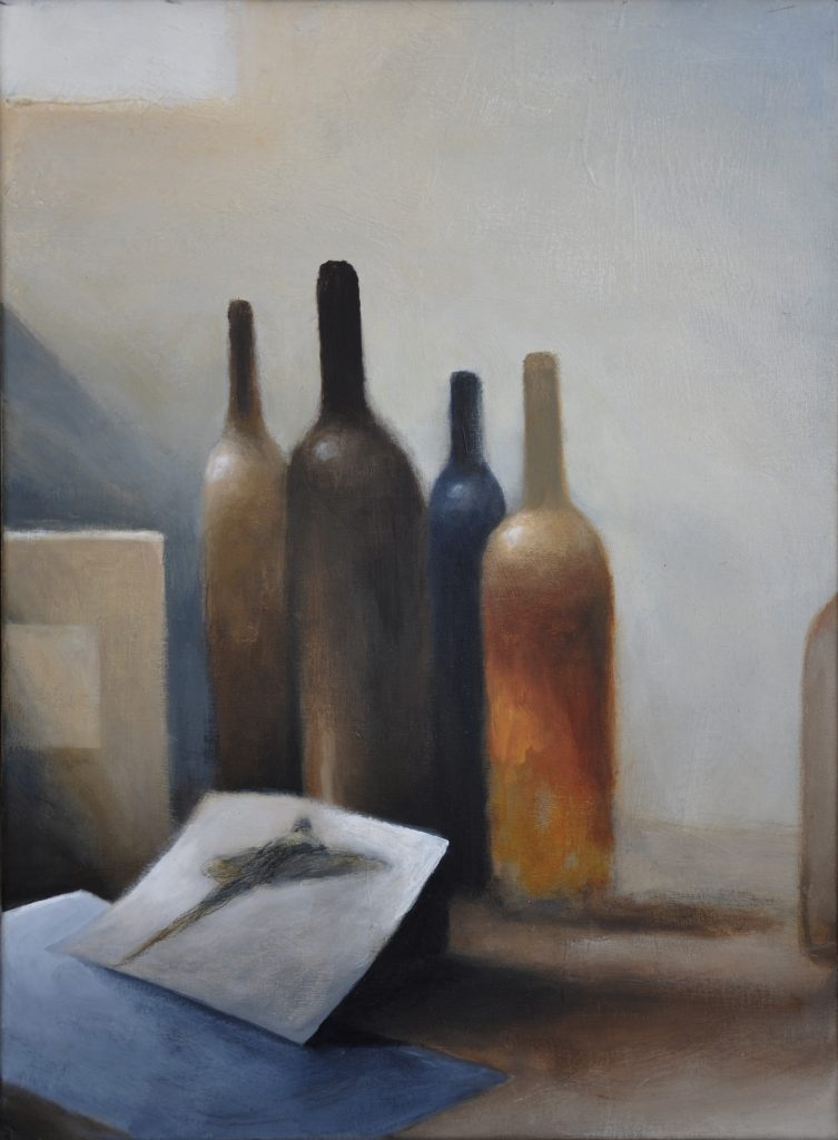 Studio I, acrylic on canvas, 51x38 cm, Adrian Lockhart, 2010