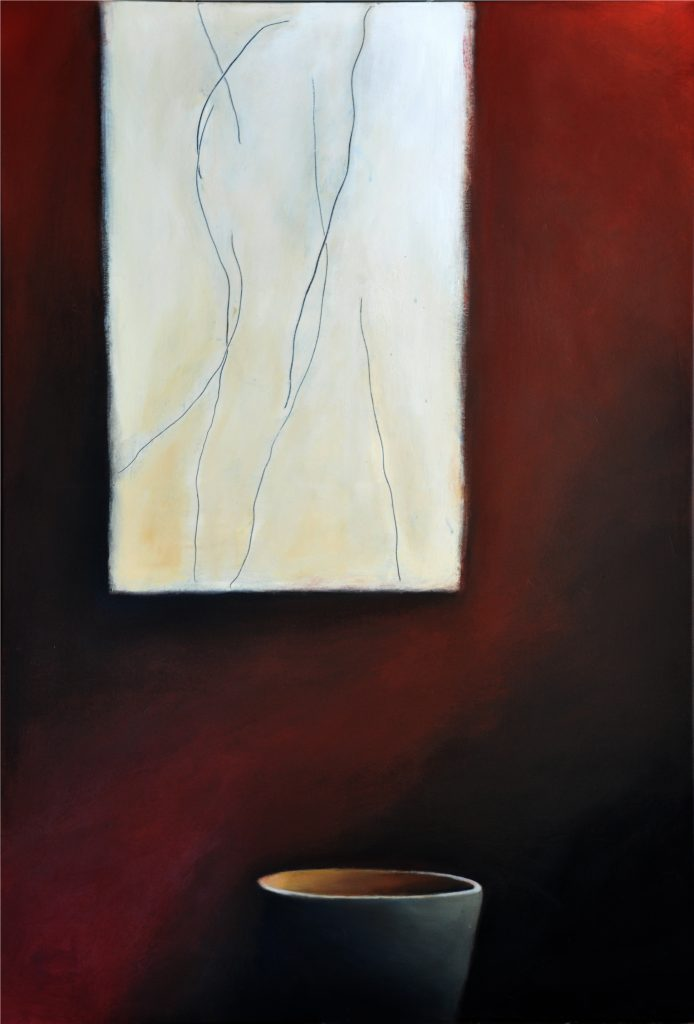 Body Sketch and Bowl, acrylic on canvas, 112x77 cm, Adrian Lockhart, 2011