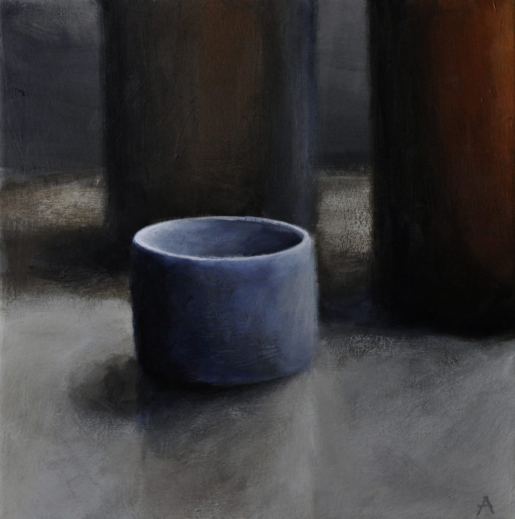 Still Life l, acrylic on canvas 25x25 cm, Adrian Lockhart, 2013