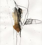 Tasmania. Marks of Origin ll, pen ink and tea wash on paper 29.7x21 cm, Adrian Lockhart