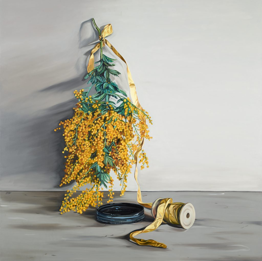 Woodhead, Heidi, 2017, Spool, oil on linen, 122cm x 122cm
