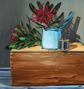 Woodhead, Heidi, 2017, Wooden Box, oil on linen, 41cm x 31cm