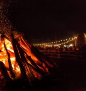 Image of bonfire at Huon Valley Mid-Winter Festival