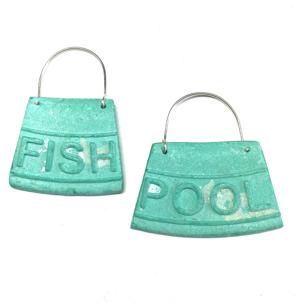 fish pool earrings