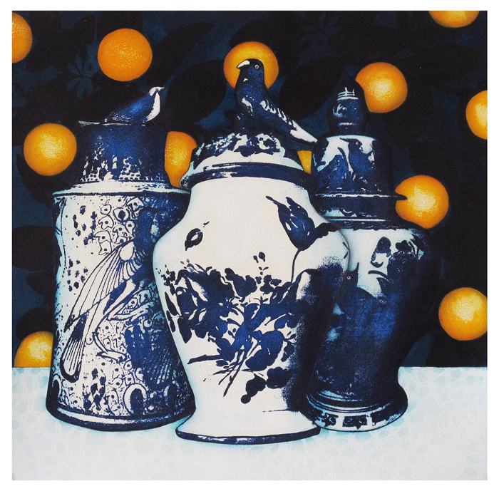 Inside the Orangery: Bird Pots with Sour Oranges, Katy Woodroffe, 2017
