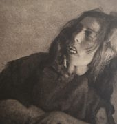 William Mortensen. The Old Hag With Skull (1926).