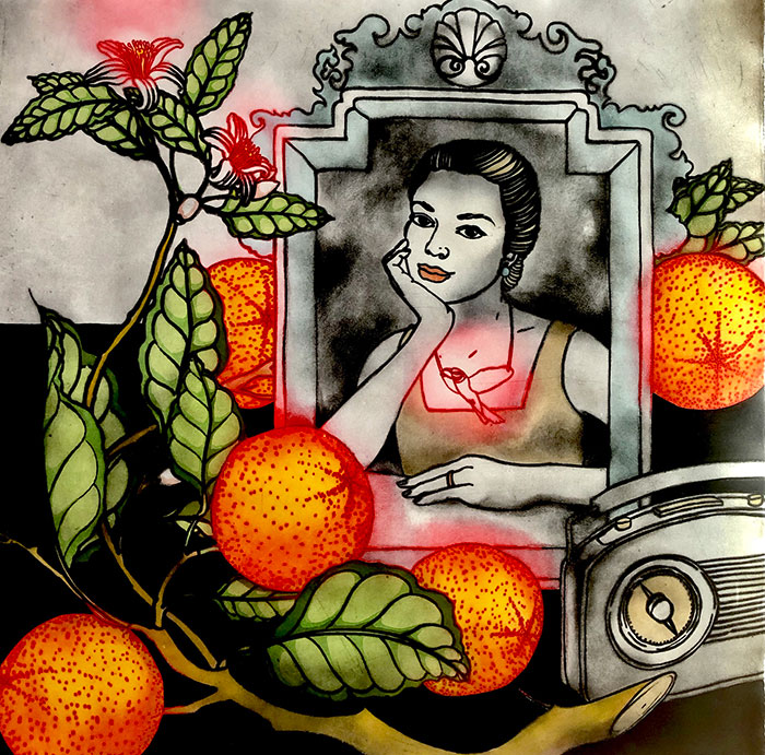 Music and Oranges, Mandy Renard, 2018