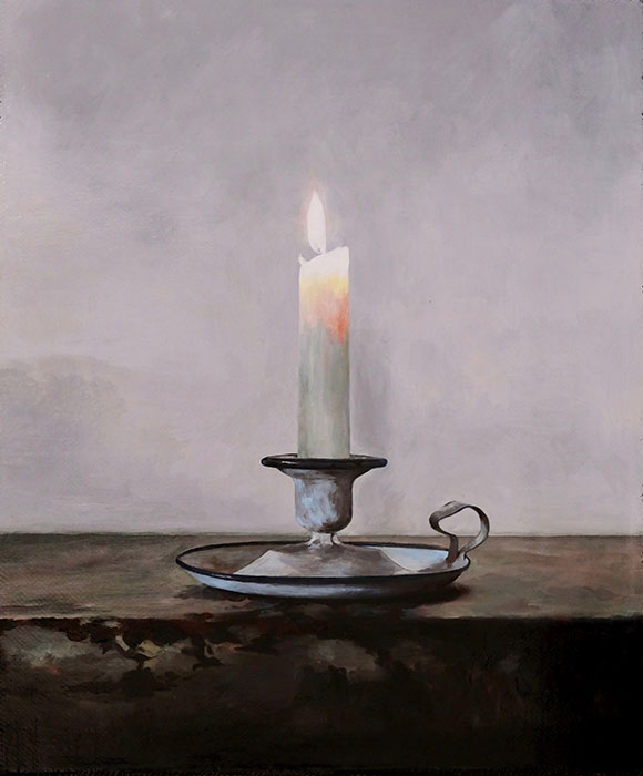 Mantle Candle, William Rhodes, 2018