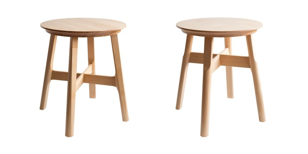 image of two timber stools - arthur and martha
