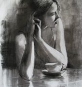 Charcoal drawing by Dan Villiers