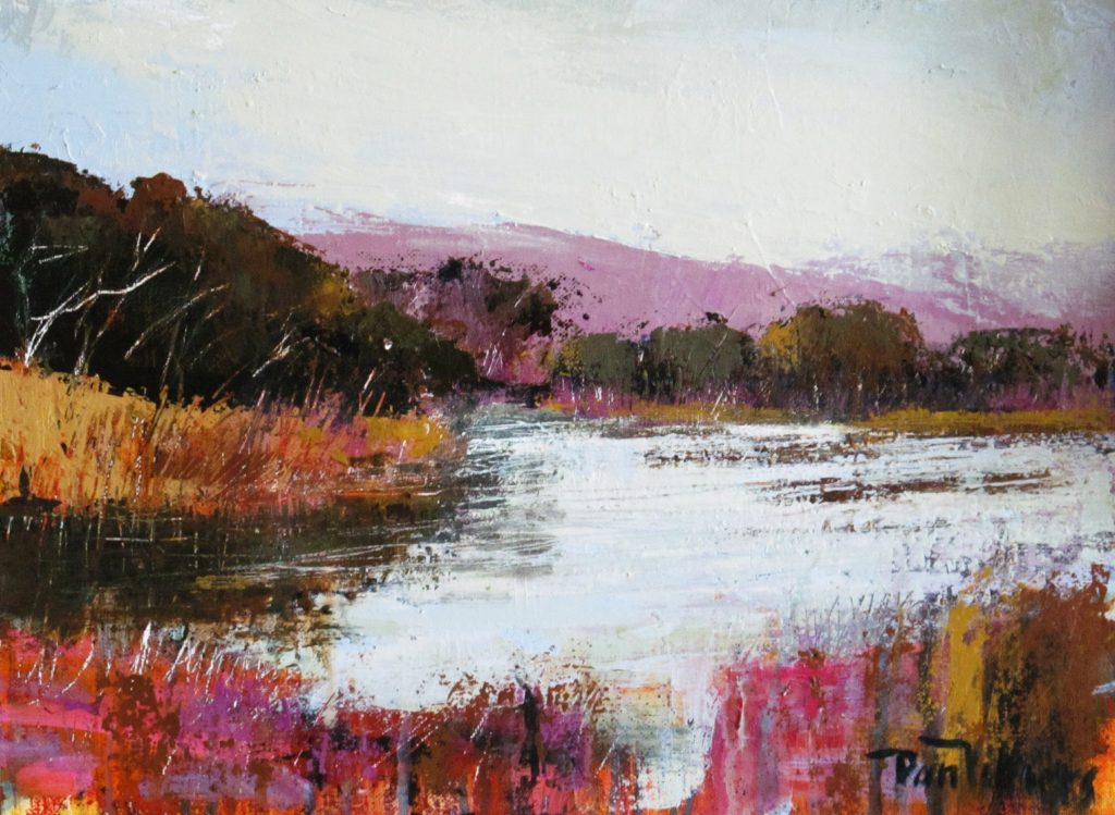 Painting: Winter Wetlands