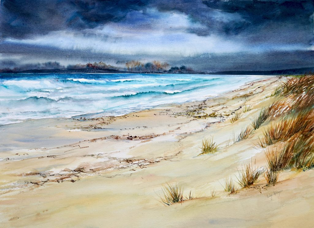 Full sheet watercolour by Northern Tasmanian painter.