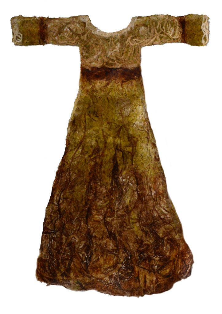 child's gown made from seaweeds