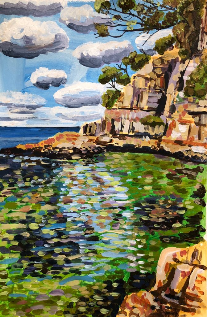 Boronia Beach cliffs, Nathaniel Hiller, 2019. Photographer: Nathaniel Hiller