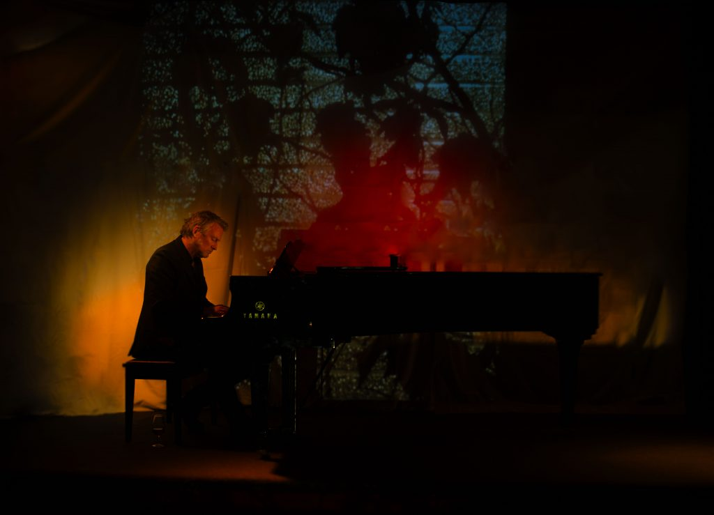 David Bridie at the piano. Photograph by L.P. Spruyt.
