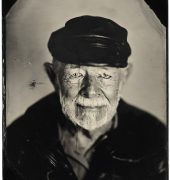 Dr Jim Marwood (2018). Collodion tintype photograph by Phillip England