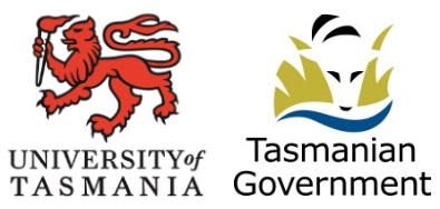 University of Tasmania and Tasmanian Government logos