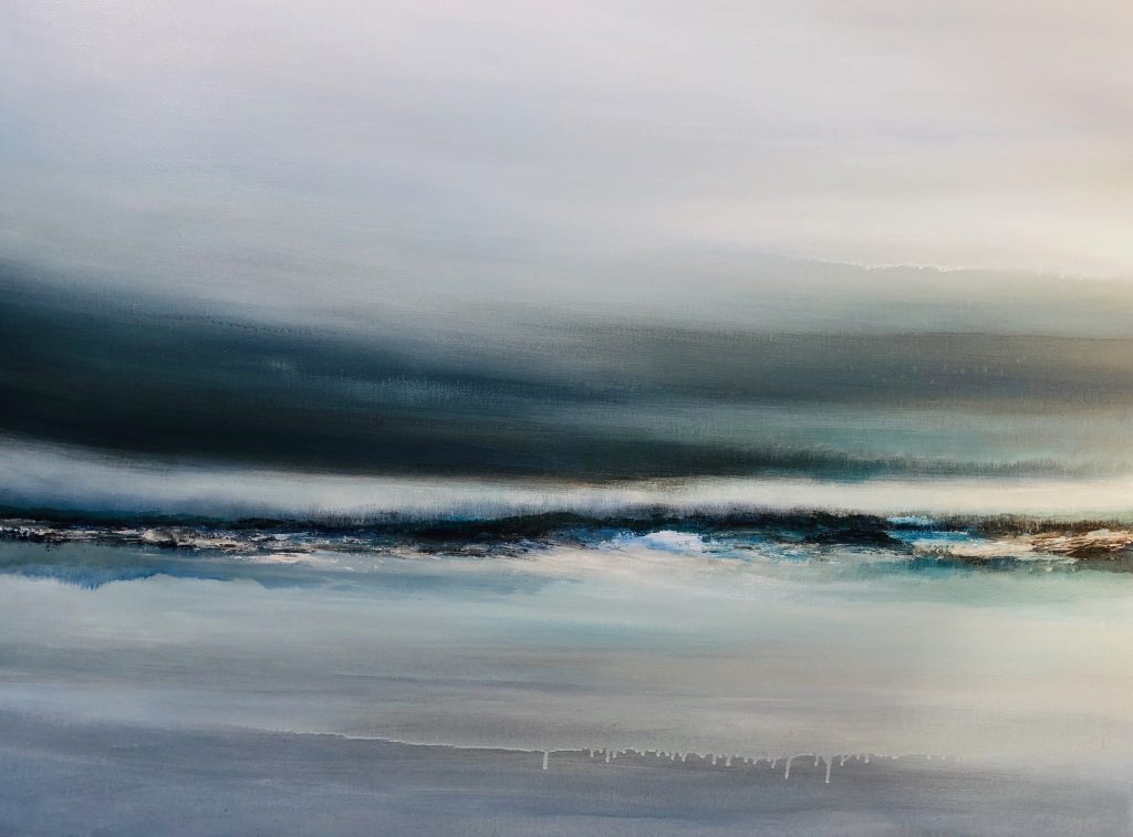 SOLITUDE : Hannah Blackmore. The Sound of Silence. Acrylic on Canvas. 75cm x 100cm.