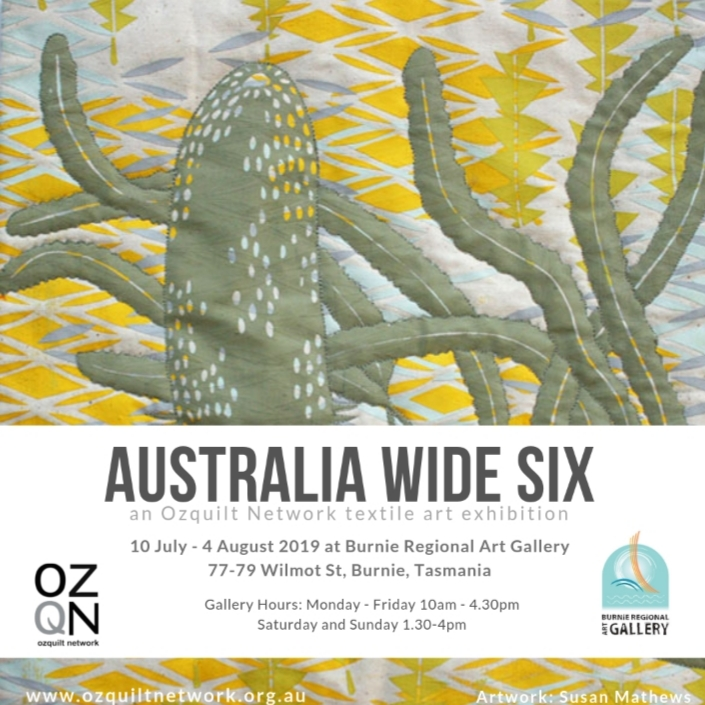 Australia Wide Six - Ozquilt network members exhibition at BRAG 2019