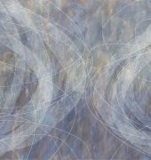 Sue Lovegrove. Windwalking (2012). Acrylic and gouache on linen.