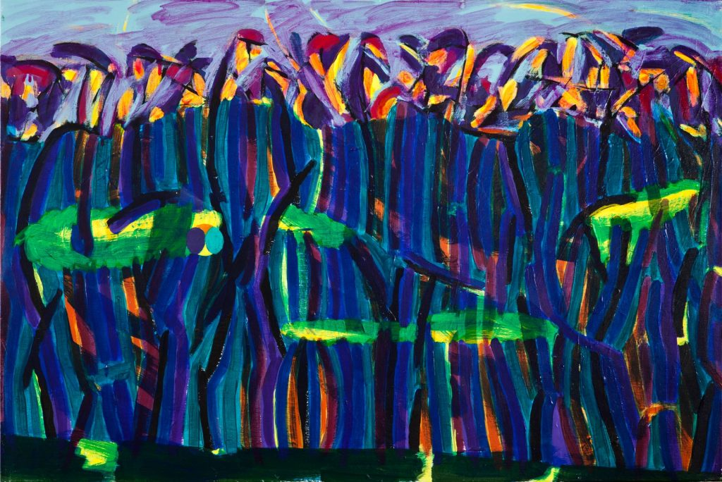 21. Plantation Palisade (2017), acrylic on canvas, 61cm x 91cm x 2cm 1kg $2,500