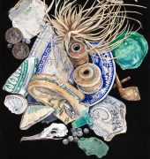 Katherine Cooper. The Collection – Shipwreck Memories, King Island. Watercolour and Gouache on Ampersand Clayboard.