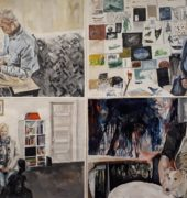 , Maeve Grieve – Hellyer College Examiners' Choice Artists and their environments acrylic on paper