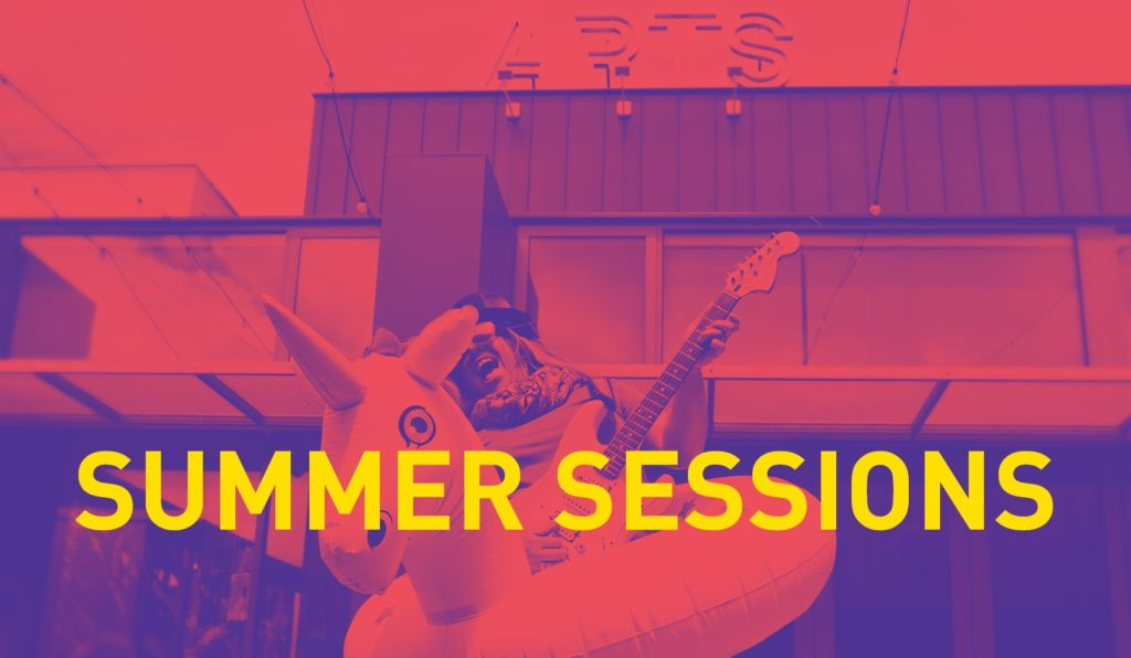 Summer Sessions purple and red