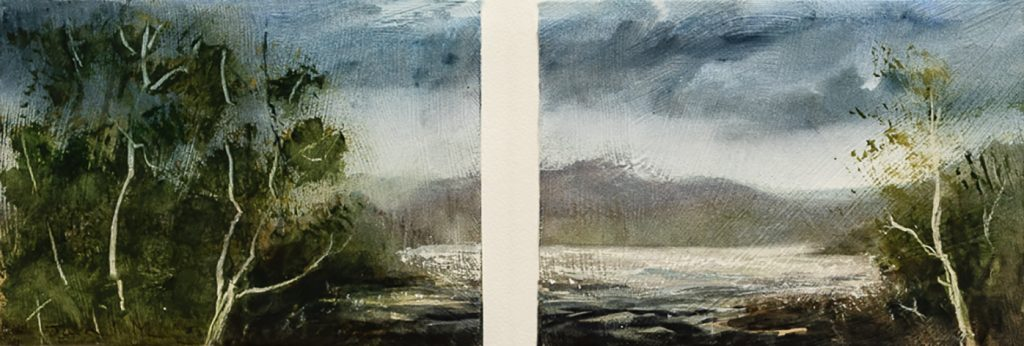 Winner of the 2020 NWAC Exhibition: Jacki Murphy, Moody Afternoon, 2020, watercolour