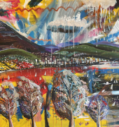 Nathaniel Hiller Four seasons in one hour 2021 Acrylic on canvas 2000x1200mm)